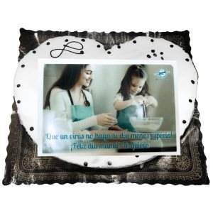Palmerón de chocolate blanco con foto