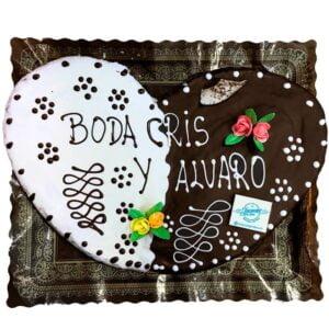 Palmerón Gigante de chocolate negro y chocolate blanco
